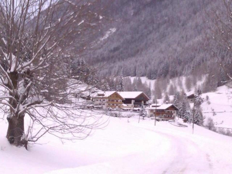 Alpeggerhof im Winter Pension Alpeggerhof