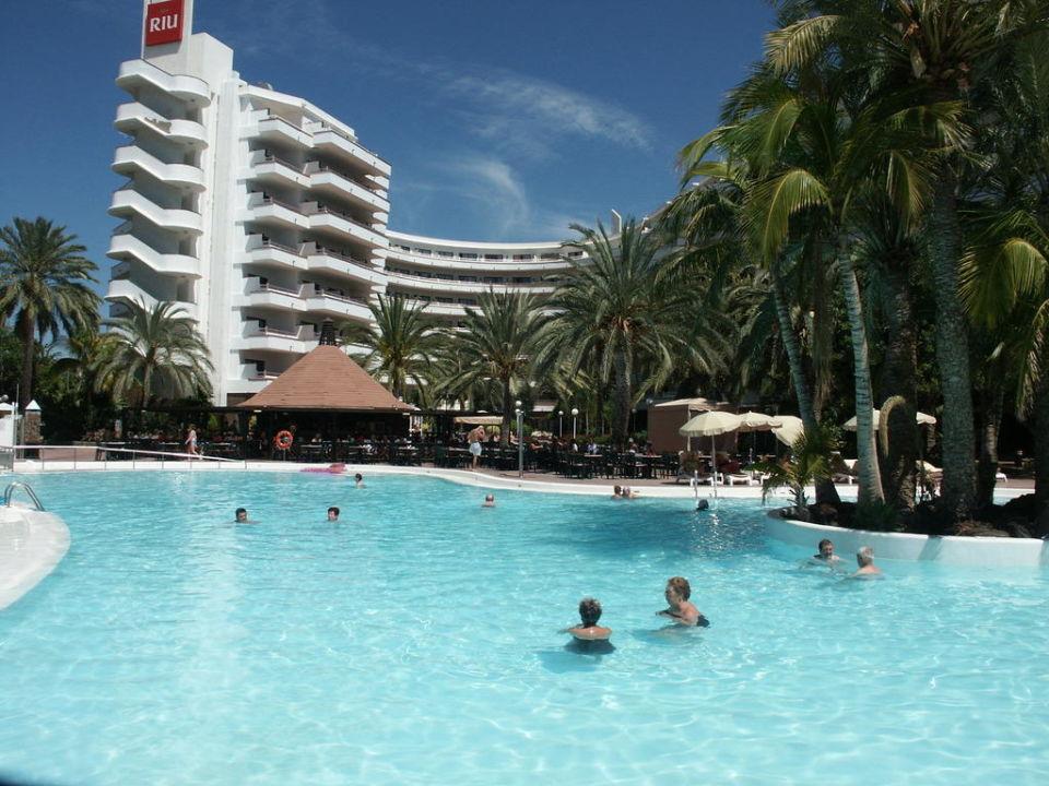 Pool von Flamingo & Papayas Aparthotel Riu Flamingo  (Vorgänger-Hotel – existiert nicht mehr)