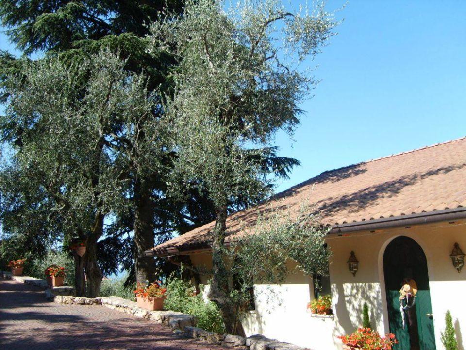 Blick auf die Villa Hotel Giada