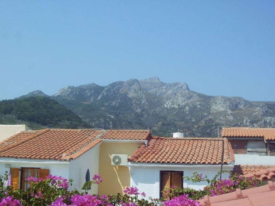 Blick vom Balkon Appartements Maria Hotel Mylos Beach