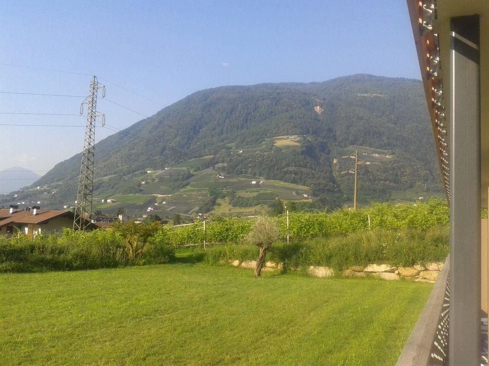 Aussicht von unserer Terrasse Hotel Ultenerhof