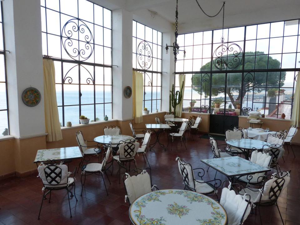Frühstücksraum mit toller Aussicht Hotel Bel Soggiorno