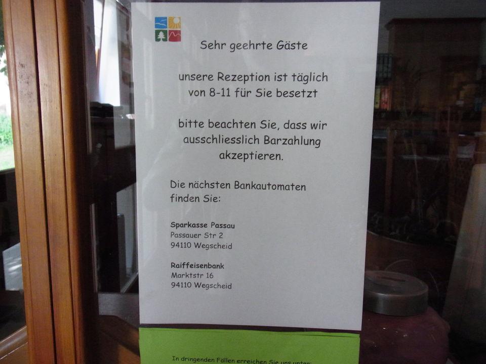 Rezeption Nicht Besetzt Landhotel Rosenberger Wegscheid