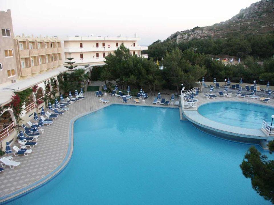 Die beliebte Poolanlage Hotel Kalithea Mare Palace
