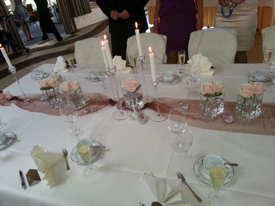 Hochzeitsdekoration trihotel am schweizer wald rostock Hochzeitsdekoration