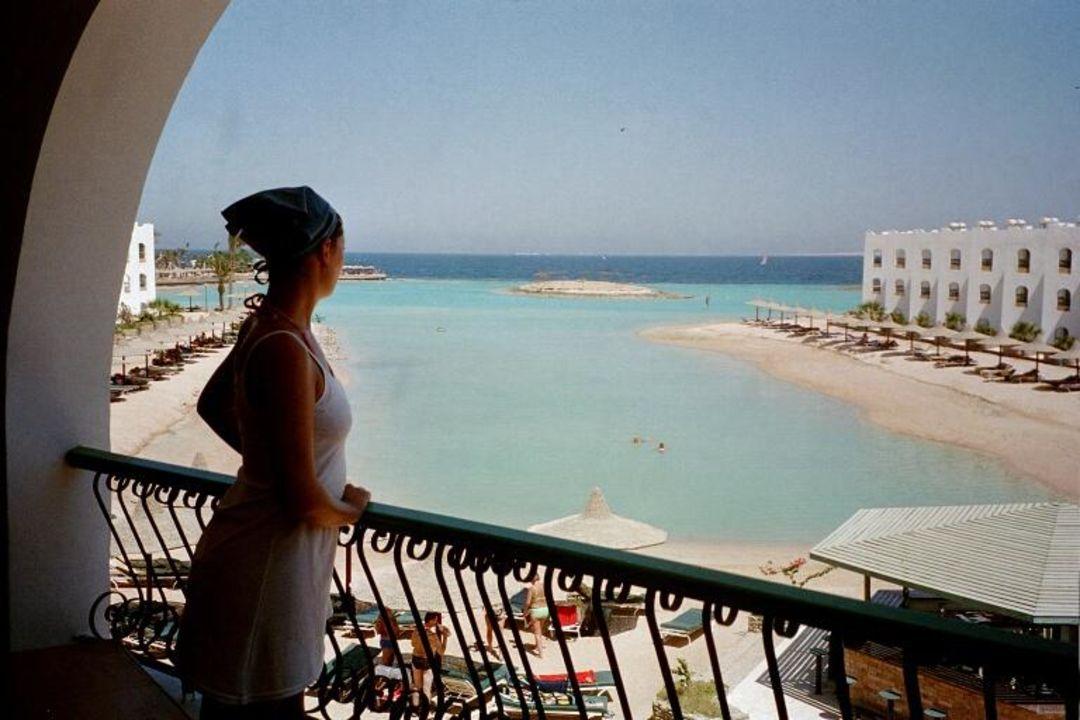 Aussicht vom Balkon Arabia Azur  Resort