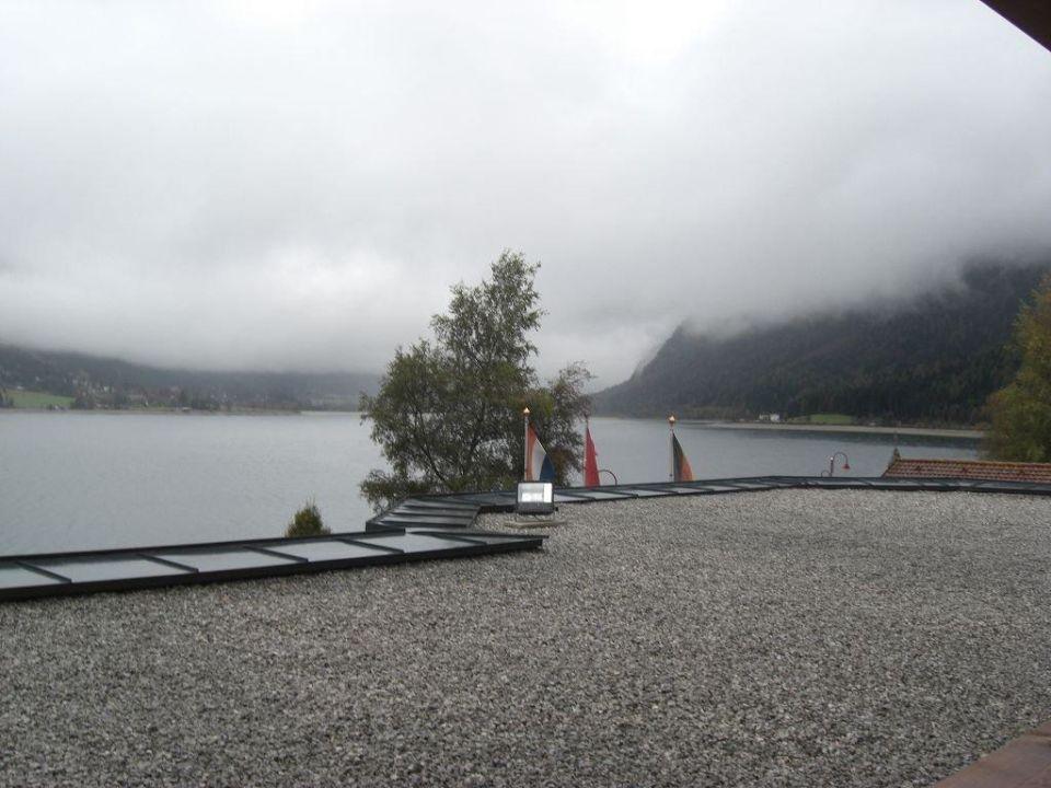 Ausblick vom Hotel auf den See Entners am See