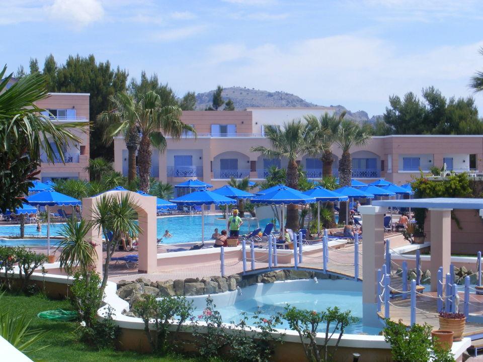 Piscine anim e hotel mitsis rhodos village bungalow in for Piscine 3 05 x 1 22