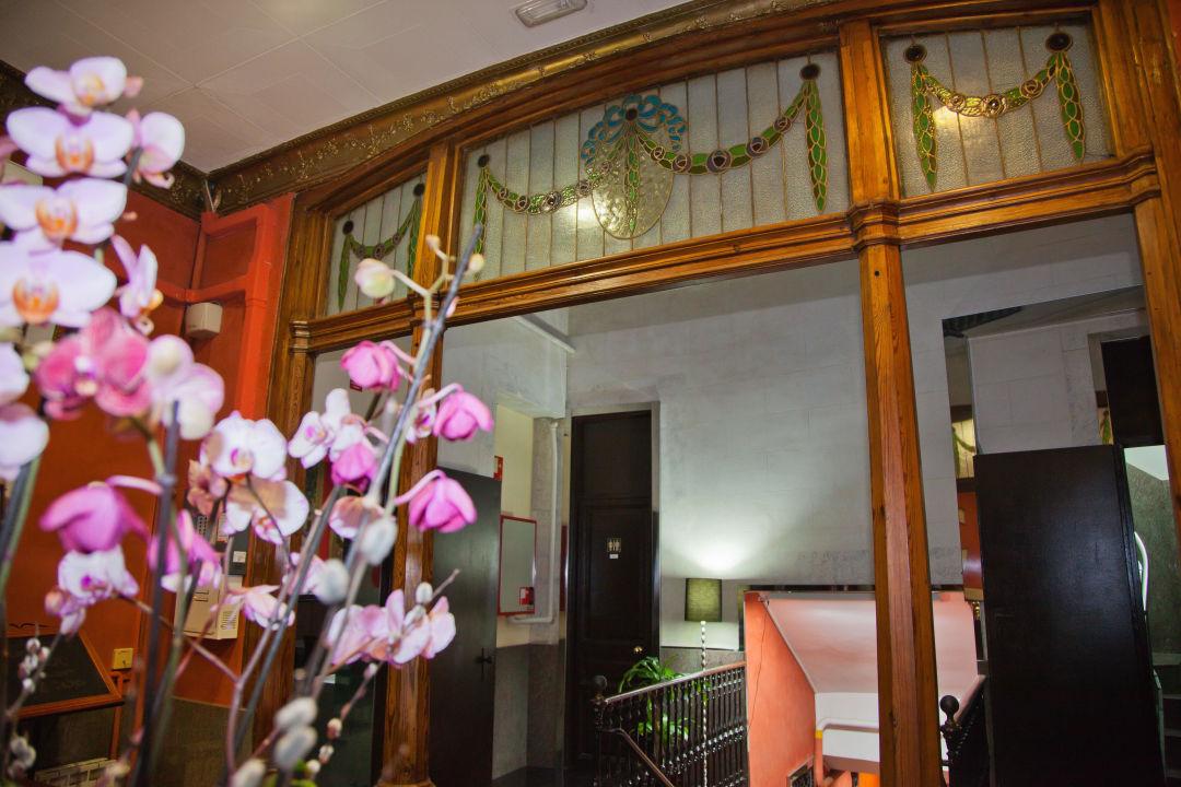Lobby & Eingang Hostal Paris