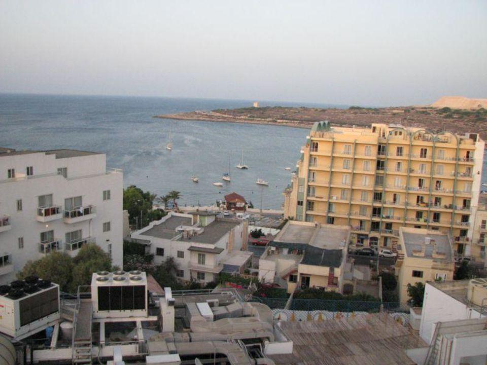 Blick vom Balkon zum Meer Hotel Il Palazzin