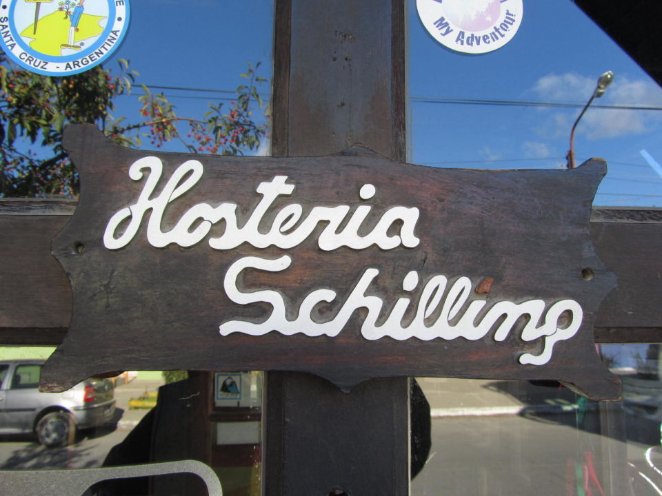 Eingangsschild Hostería Schilling