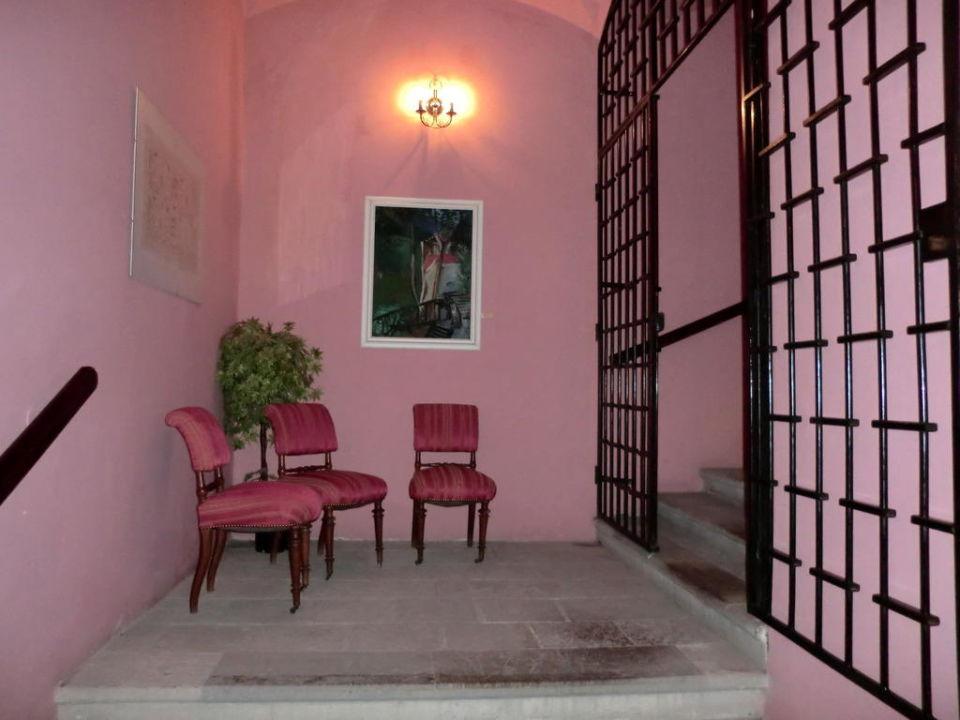 Treppenaufgang Hotel Salva Guarda