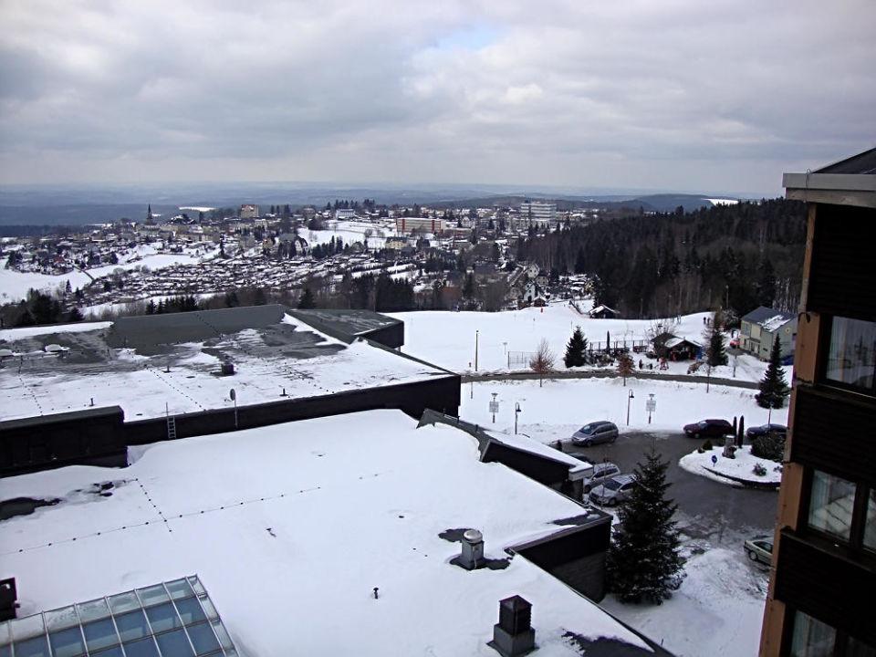 Blick zum Skilift IFA Schöneck Hotel & Ferienpark