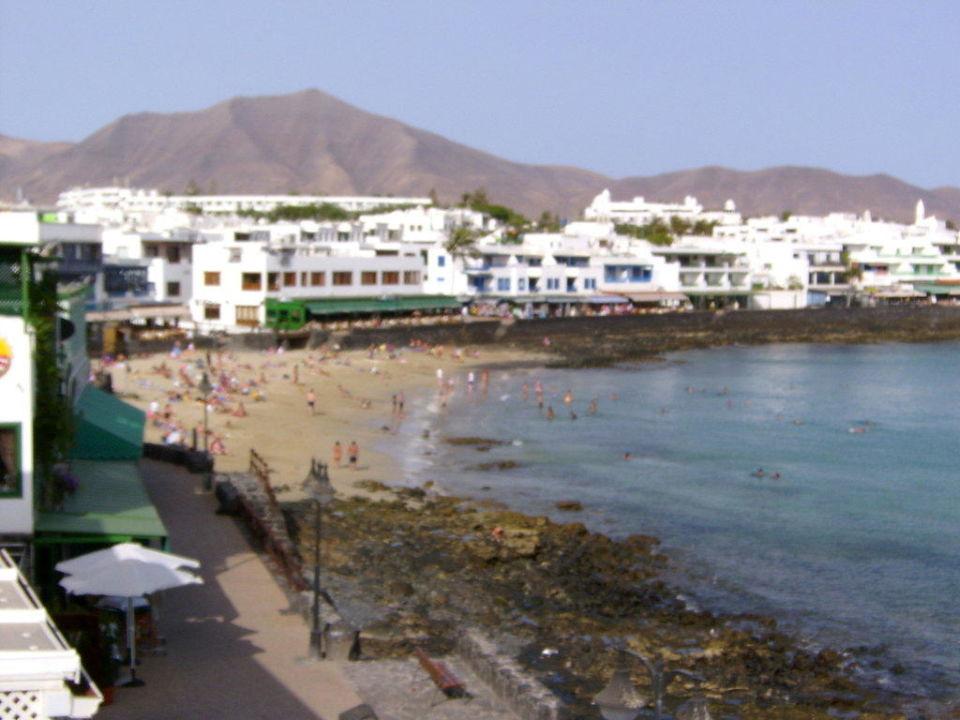 Blick zum Stadtstrand Hotel Casa Domingo