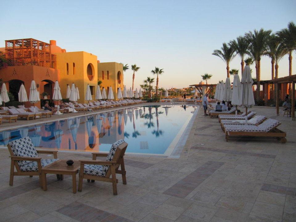 Pool am späten Nachmittag Steigenberger Golf Resort El Gouna