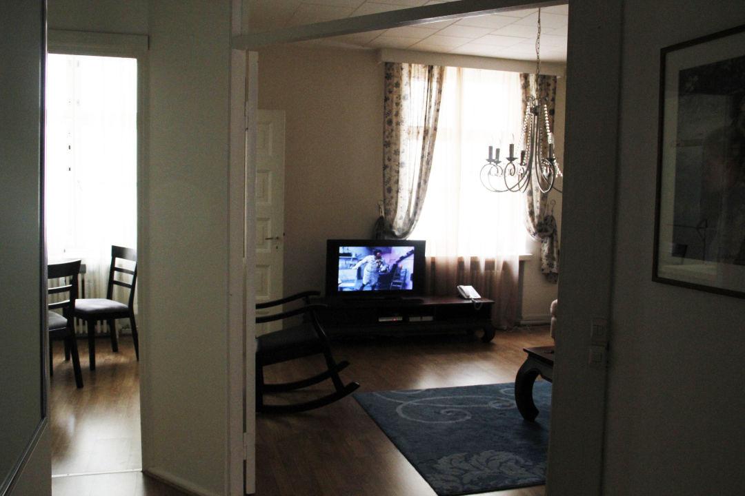 Apartment - Wohnzimmer/Küche Rivoli Jardin Hotel