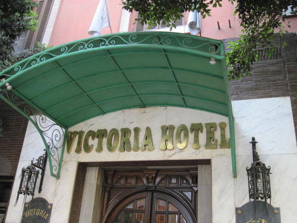 Einladender Haupteingang Hotel Victoria
