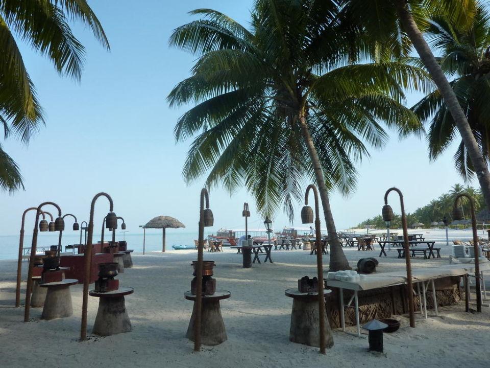 Offenes Restaurant Hotel Bangaram Island Resort