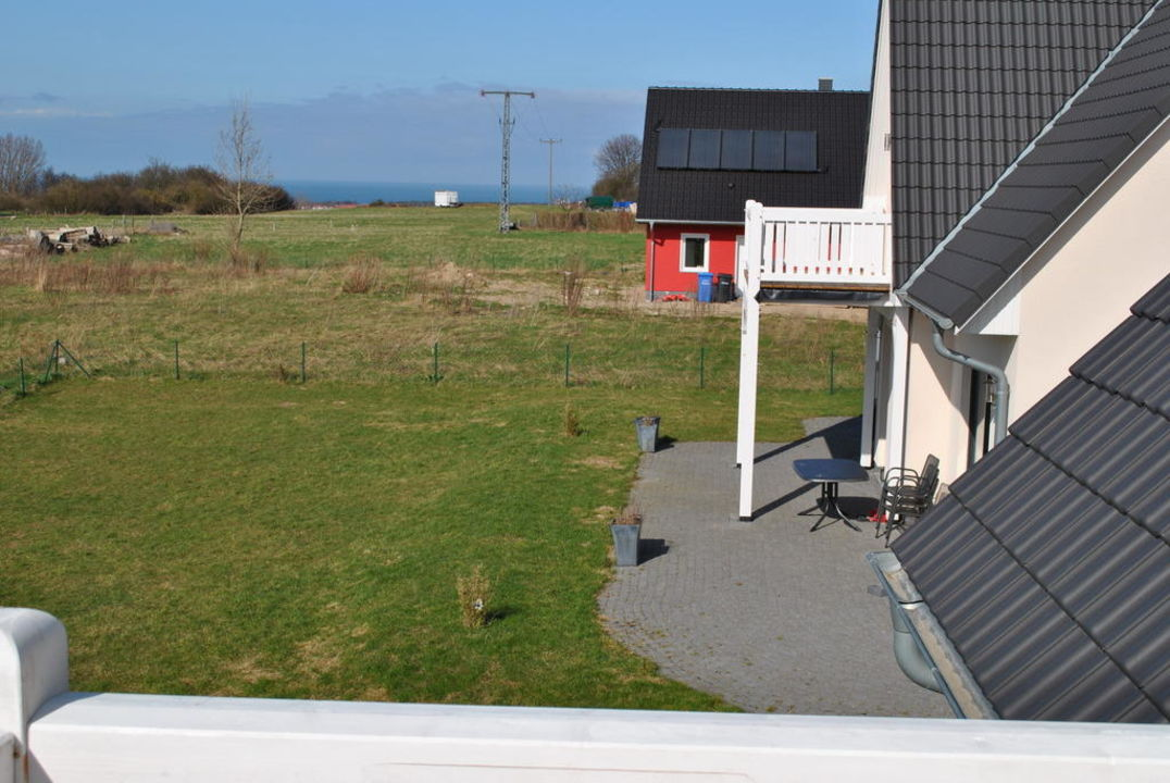 Blick vom Balkon Ferienhof Gutshof Bastorf