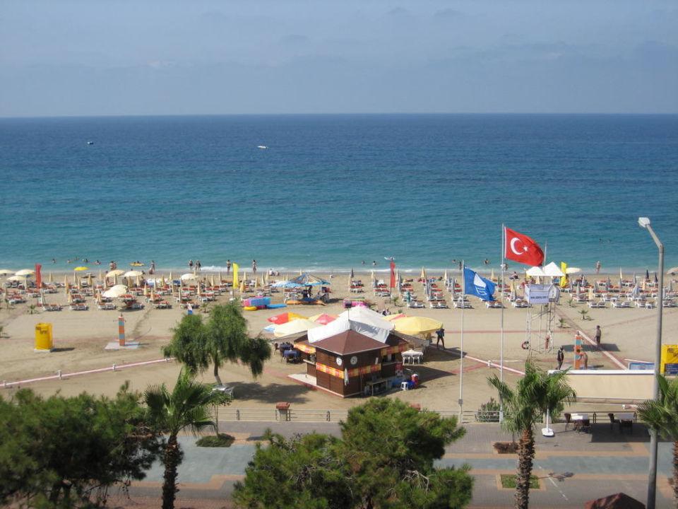 Widok z pokoju (na wprost) Hotel Kleopatra Ada Beach