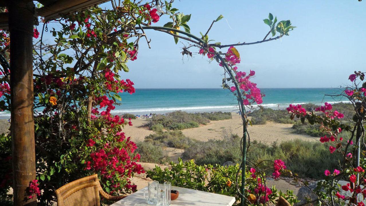 Blick von der Beach-Bar zum Strand SBH Crystal Beach Hotel & Suites