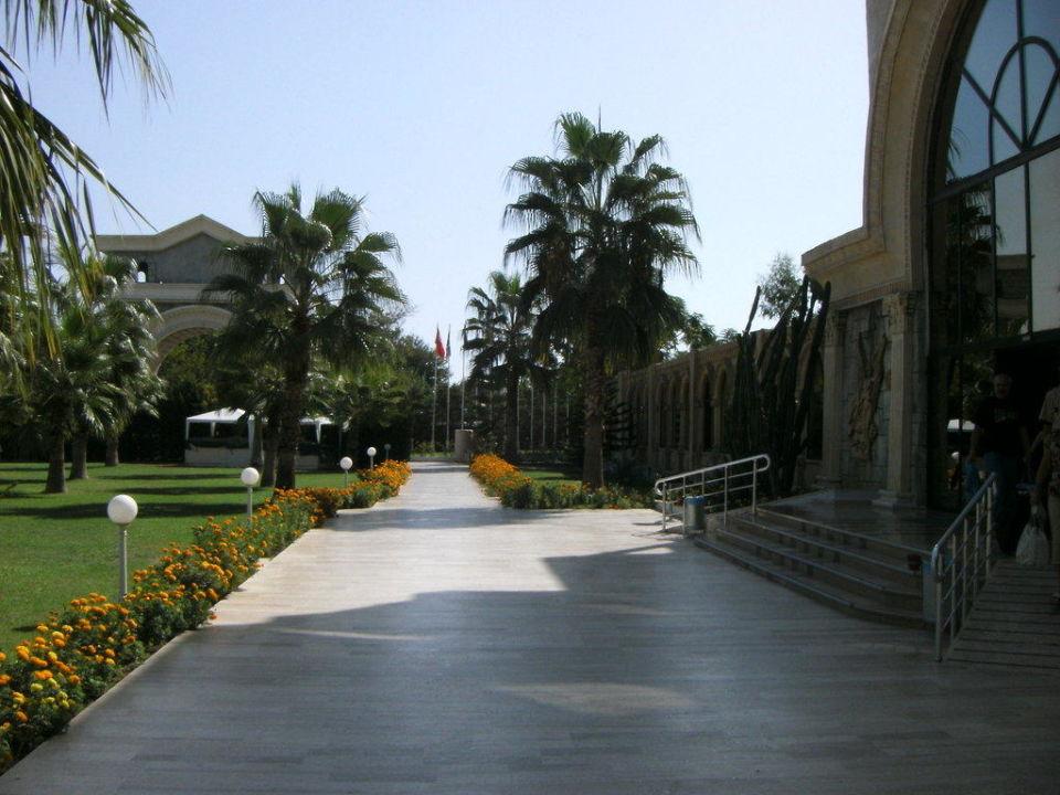 Weg zum Haupteingang Cesars Resort Side