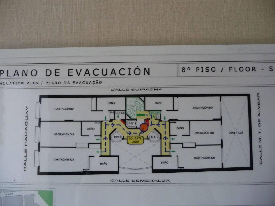 Plan der Etage Aspen Towers Hotel