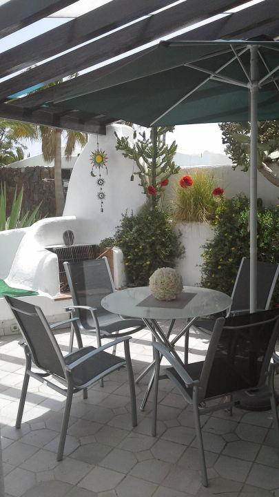 Terrasse Ferienanlage El Jardin - Bungalow Casa Jandia