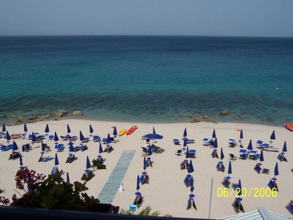 Blick auf den Strand Hotel San Domenico