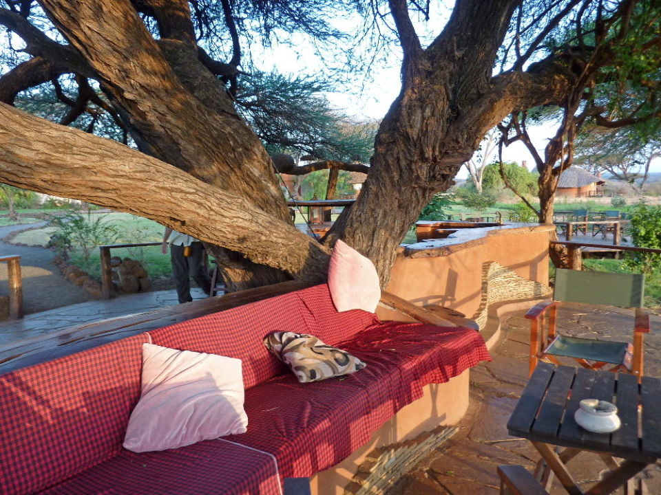 Gemütliche Sitzecke Tawi Lodge