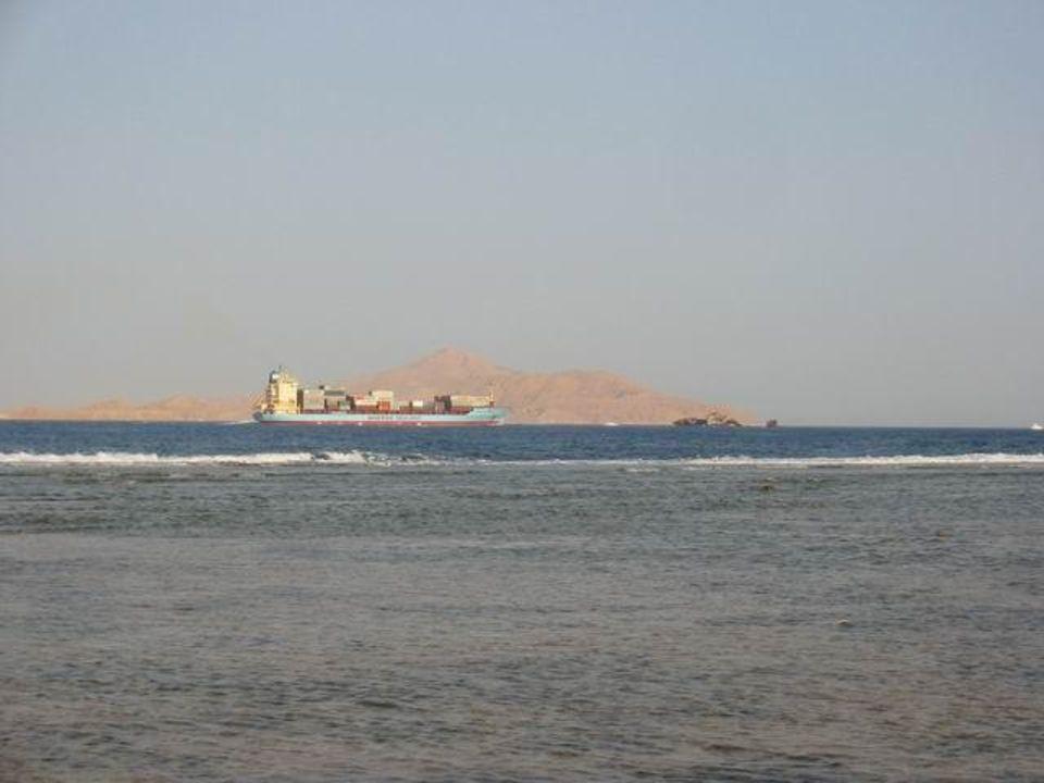 Blick auf Tiran-Island Hotel Hauza Beach Resort