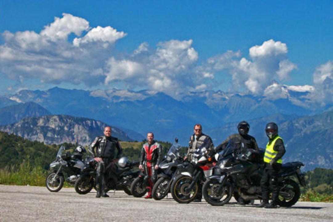 Geführte Motorradtour zum Gardasee Hotel Diana