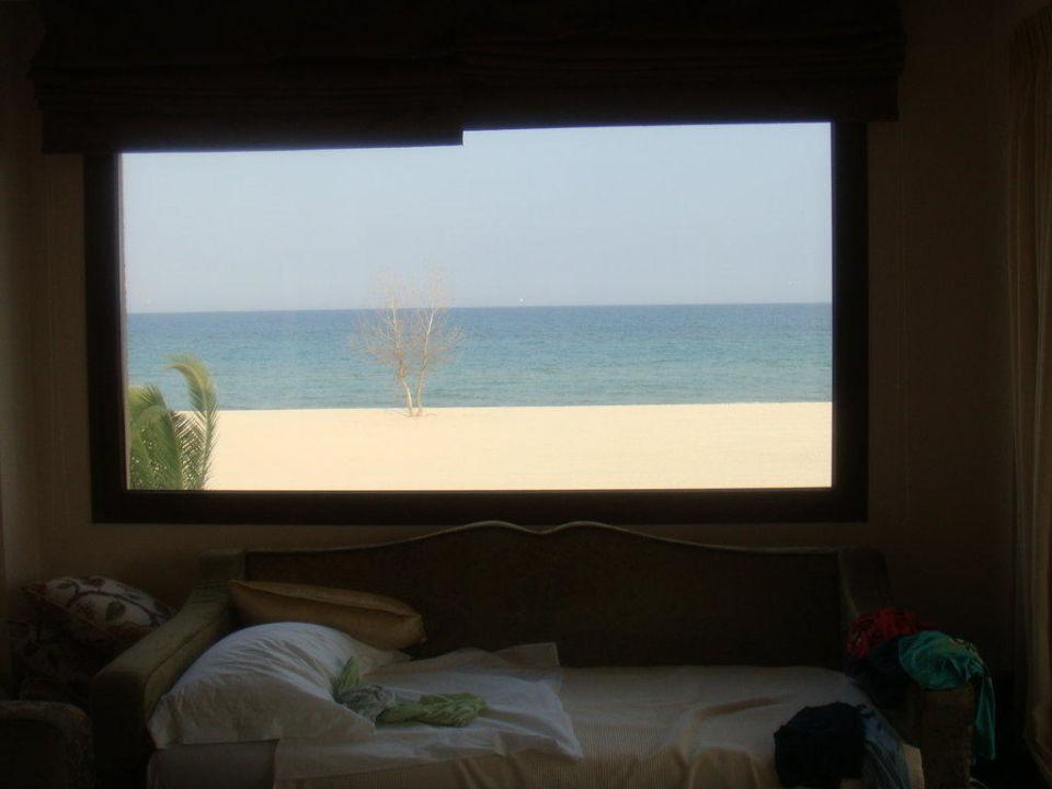 ausblick aus dem panorama fenster der suite sentido mediterranean village paralia. Black Bedroom Furniture Sets. Home Design Ideas