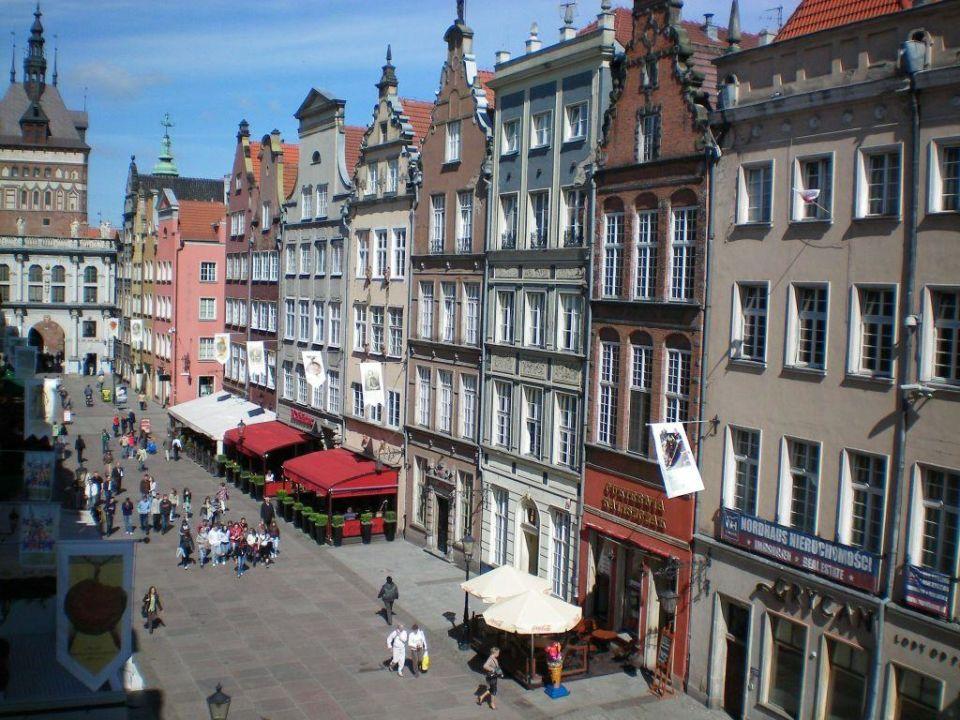 Ausblick aus dem Fenster Hotel Patio Appartement