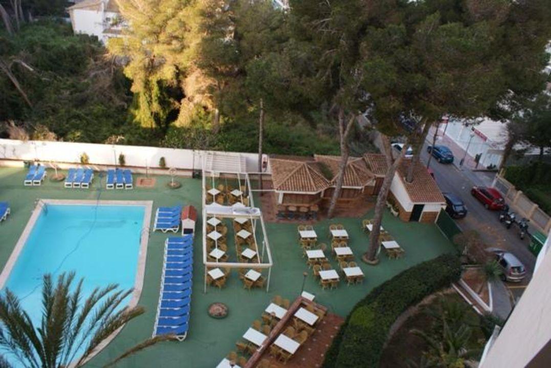 Ausblick zum Pool Hotel Pabisa Bali