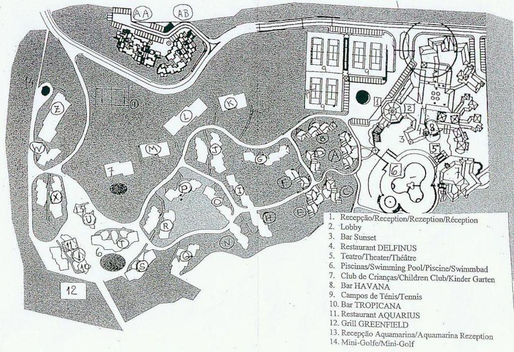 Hotelplan Lageplan Adriana Club Beach Resort Vilamoura