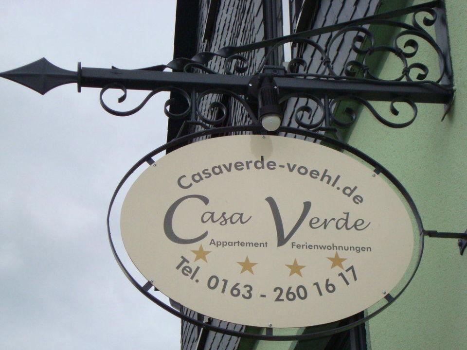 Hotelschild Ferienwohnung & Doppelzimmer Casa-Verde Vöhl