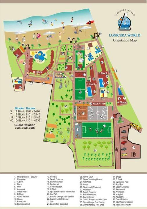 Lageplan Lonicera World