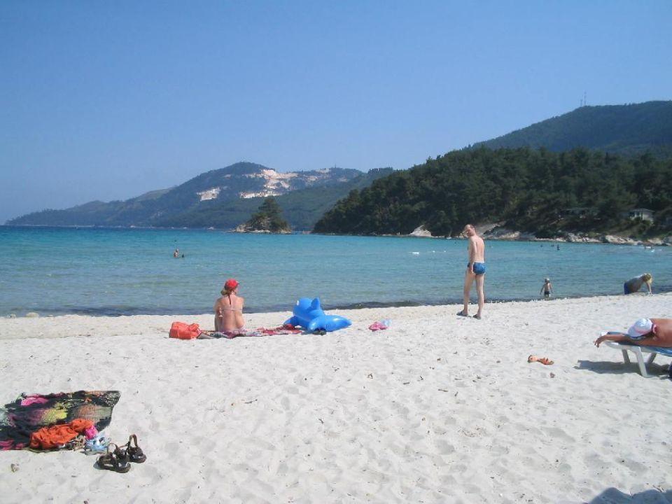 Strandaufnahme Hotel Makryammos Bungalows