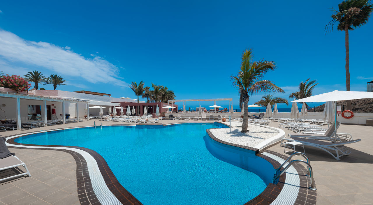 Blick vom Pool in den FKK Bereich Fuerteventura Princess
