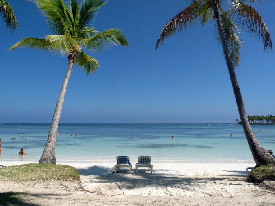 Blick von Liege auf das Meer Hotel Grand Paradise Samana
