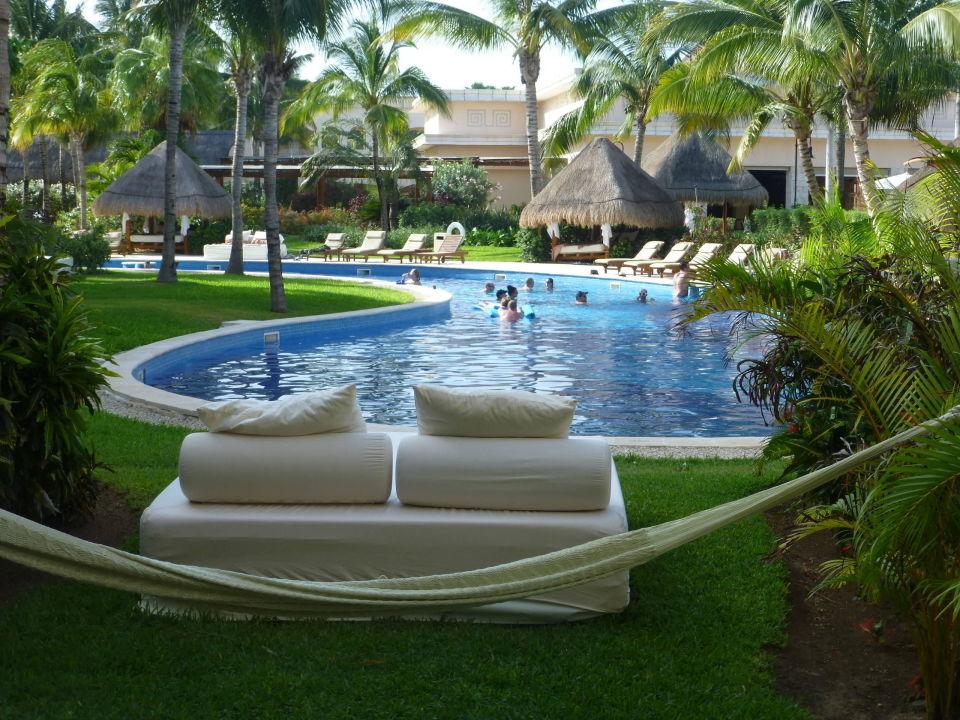 blick aus dem zimmer unsere h ngematte excellence riviera cancun puerto morelos riviera maya. Black Bedroom Furniture Sets. Home Design Ideas