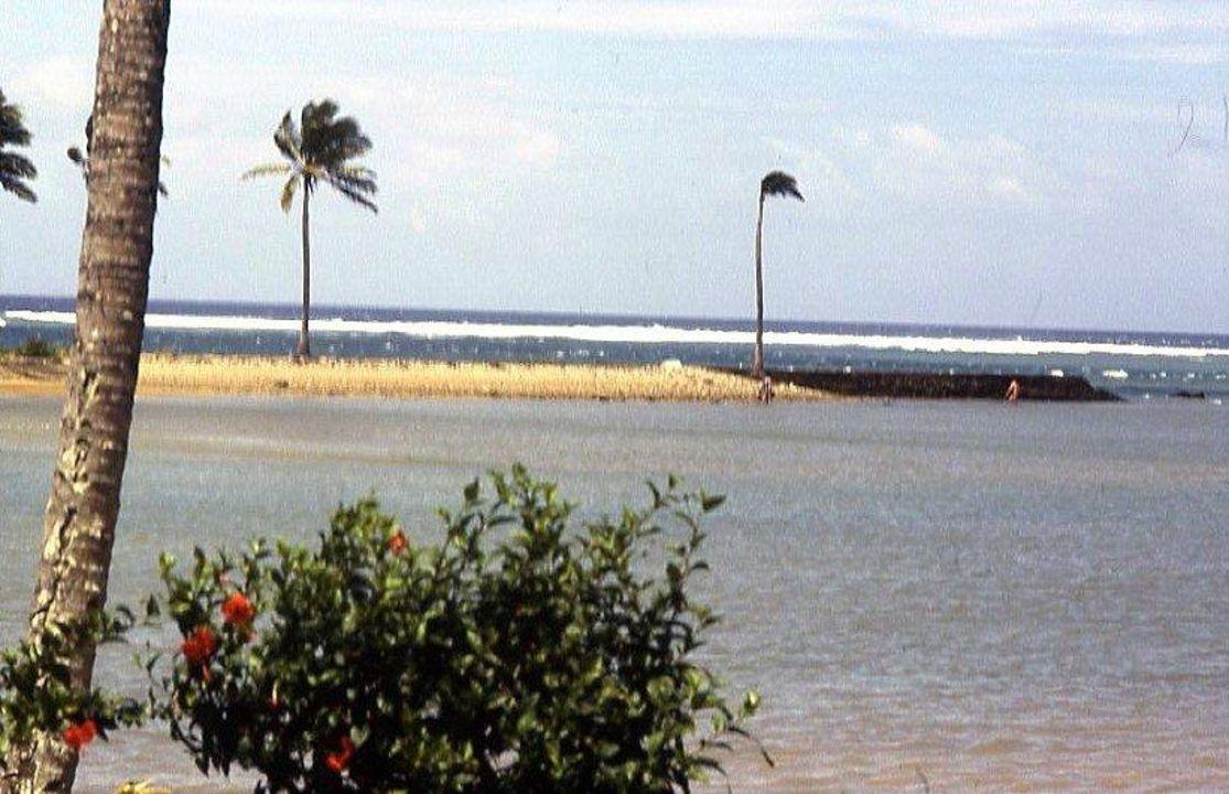 Die Lagune bei Flut Hotel Naviti Resort