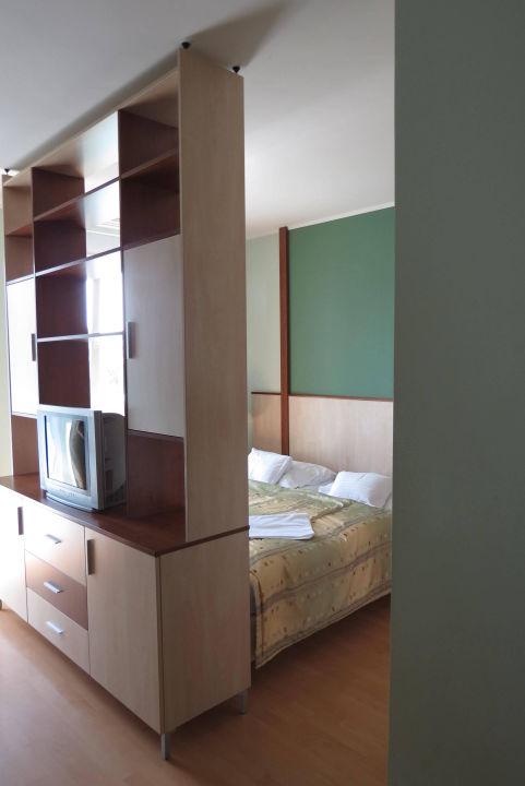 Bett Hinter Raumteiler Premium Apartment House Budapest