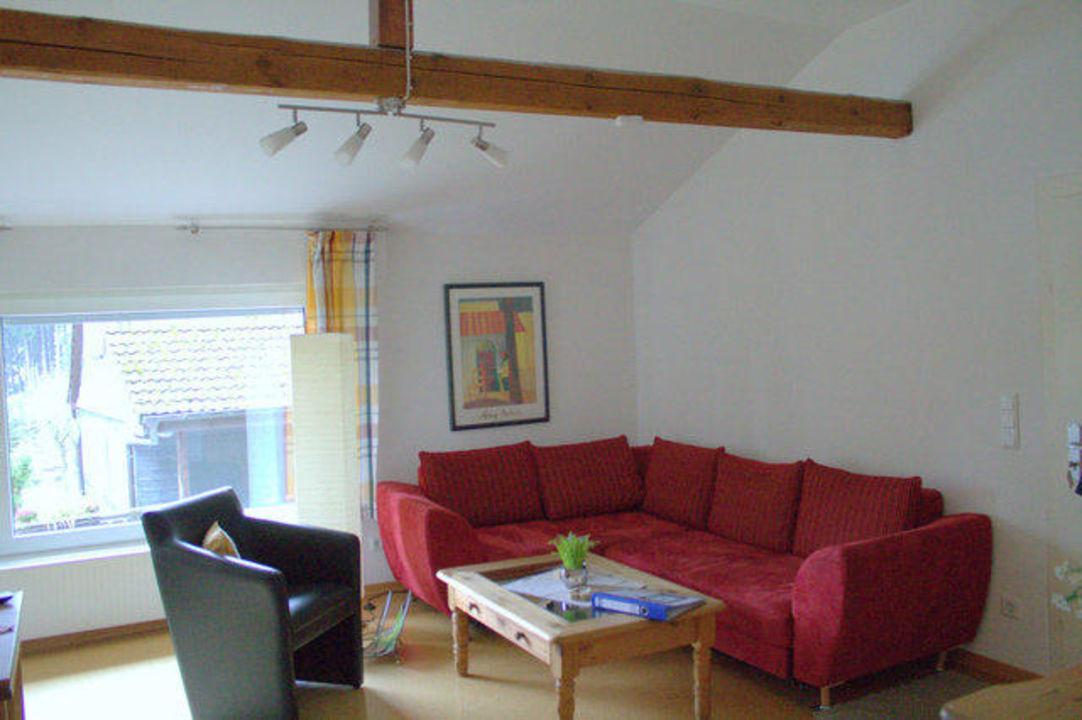 Gemütliche Sitzecke im Wohnzimmer\
