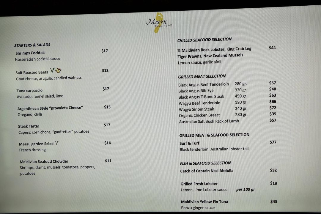 Getränkepreise (zzgl 10%service zzgl 12% tax)\