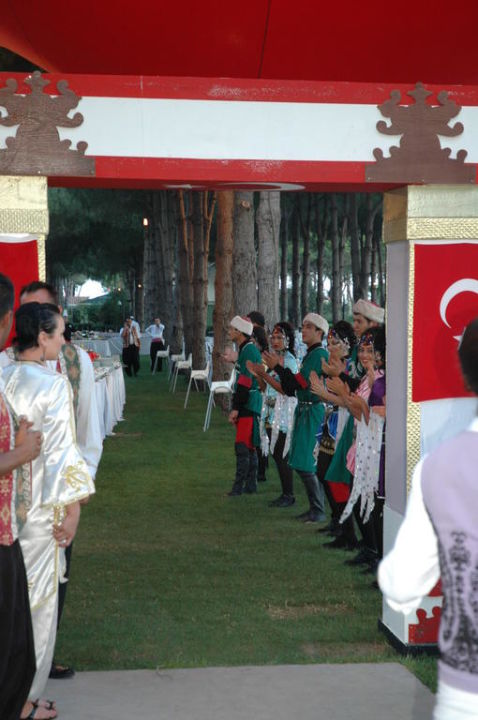 Eingang Türkischer Abend ROBINSON Club Nobilis