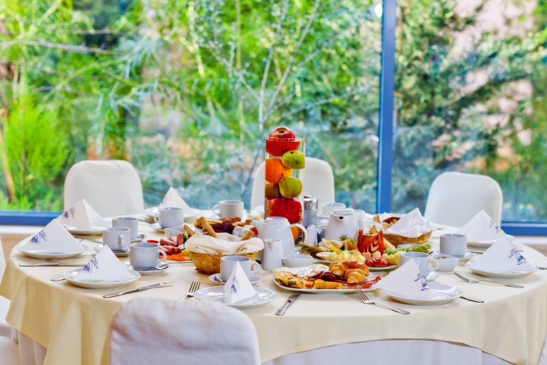 Breakfast at Sky Bar Restaurant Alkyon Resort Hotel & Spa