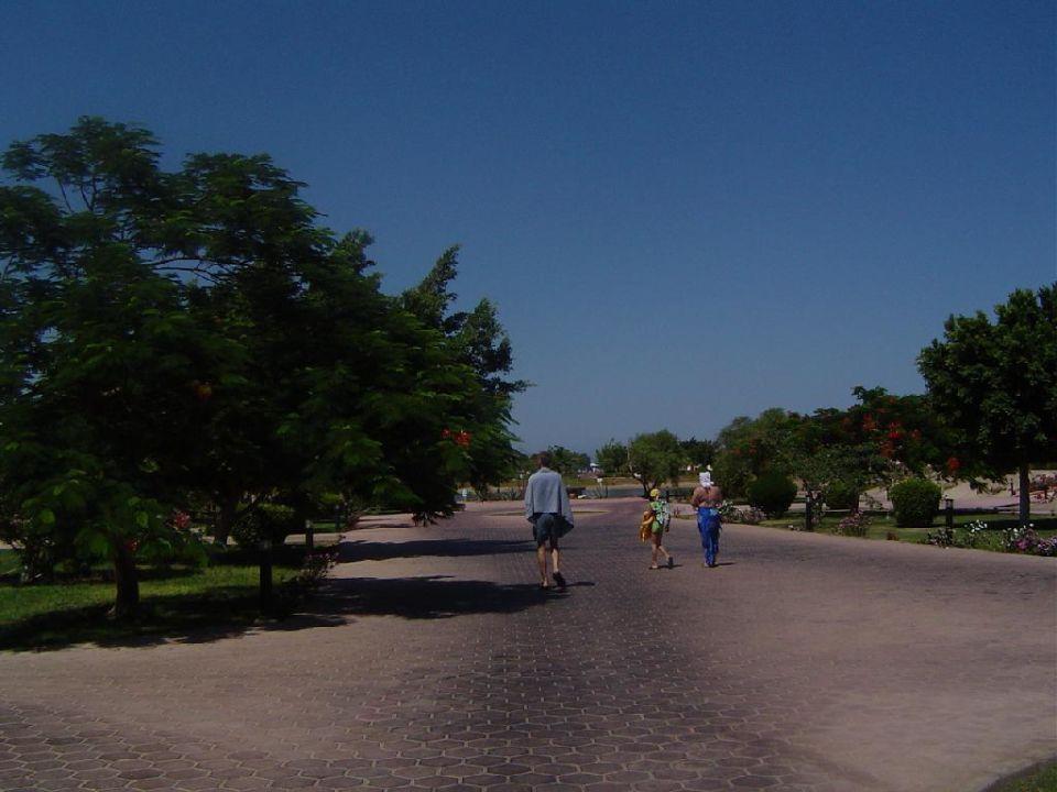 Weg zum Strand Pharaoh Azur Resort
