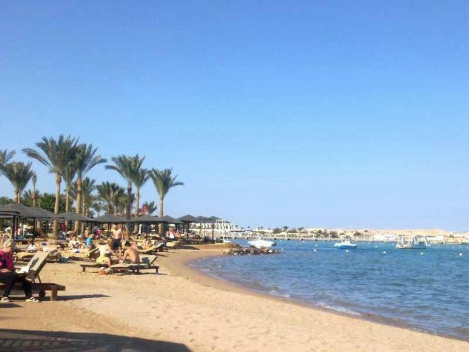 Der Strand Vom Aqua Magic Steigenberger Aqua Magic Hurghada